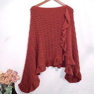 2 Chic Sweater shawl Pancho
